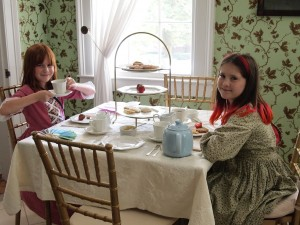 Girls having tea